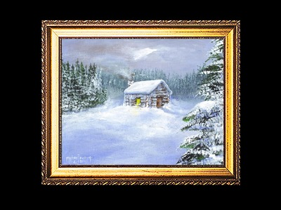 A Cabin Snow Scene Part 1