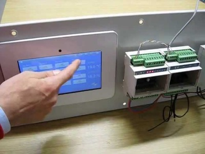 An HMI application with Android multi touch panel through modbus and rs485