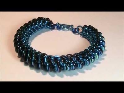 Chain mail blue bracelet