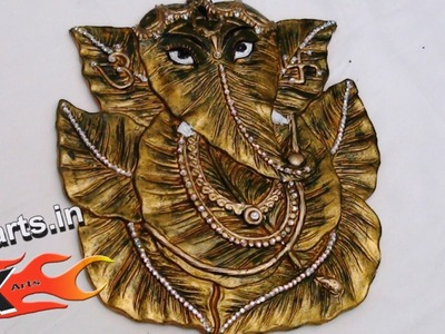 DIY Color and Decorate Ganpati Idol - Style 2 - JK Arts 056