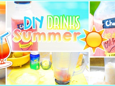 ☼ DIY Easy & Healthy Summer Drinks.Beverages | AlohaKatieX ☼