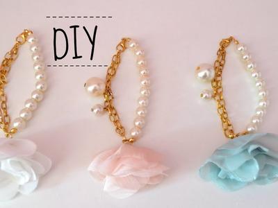 DIY: Elegant bridal.prom floral bracelet