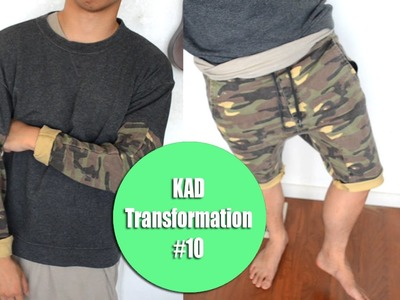 DIY: Jogger Pants to Jogger Shorts + Jogger sleeves! | KAD Transformation #10