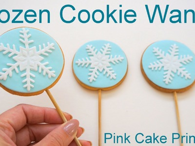 Frozen Cookie Pop Snowflake Wands how to by Pink Cake Princess