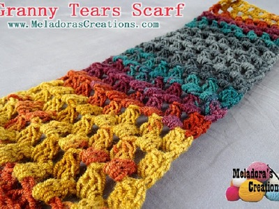 Granny Tears Scarf REVISED - Crochet Tutorial