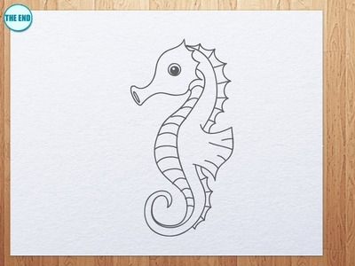 How to draw seahorse