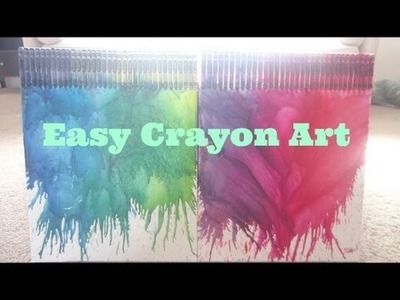 ❤ How To: Easy Crayon Art ❤