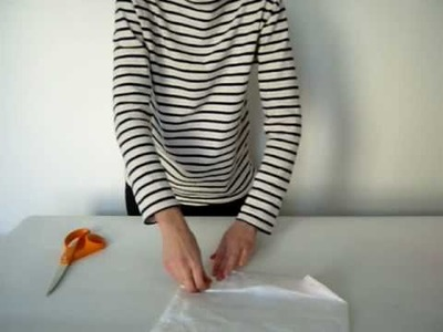 How to make a TYVEK bag