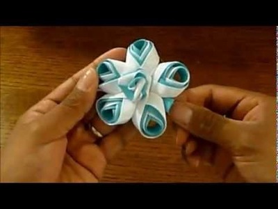 How to make a Unique Flower With Ribbon!