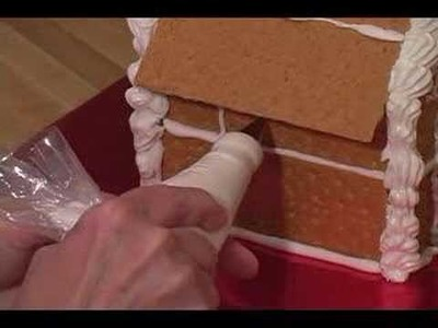 How to Make Graham Cracker Gingerbread Houses : How to Add Windows & Doors to Graham Cracker Gingerbread House