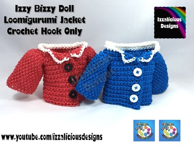 Loomigurumi Izzy Bizzy Doll - Jacket - hook only - amigurumi with Rainbow Loom Bands