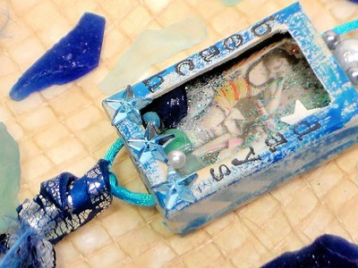 Mini Shadowbox Amulet Tutorial - Beach Days Theme