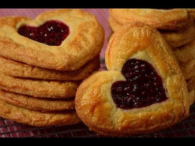 Raspberry Butter Cookies Recipe Demonstration - Joyofbaking.com