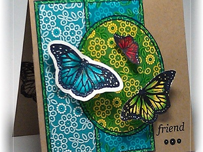 Square Frame Card and Faux Paper Piecing
