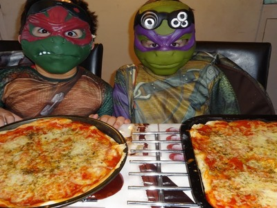 Teenage Mutant Ninja Turtles show you how to make pizza