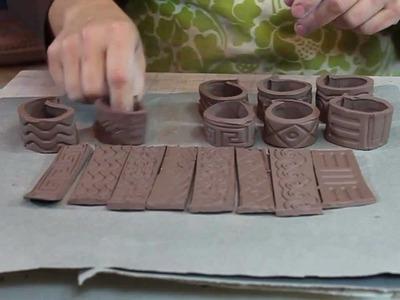 Bridges Pottery Demonstration - Rolling Texture