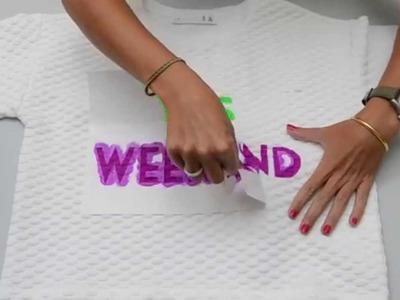 Cómo estampar una sudadera - How to stamp a sweatshirt
