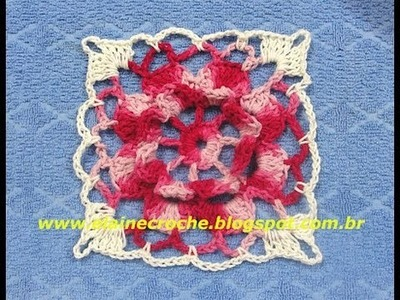 CROCHE - SQUARE SUPREMO FLOR CENTRAL