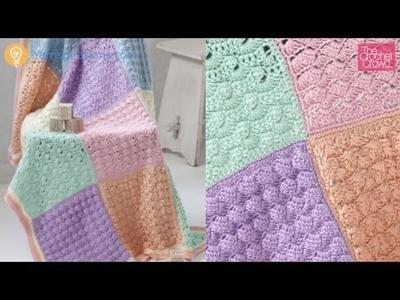 Crochet Baby Sampler Afghan: Block 1