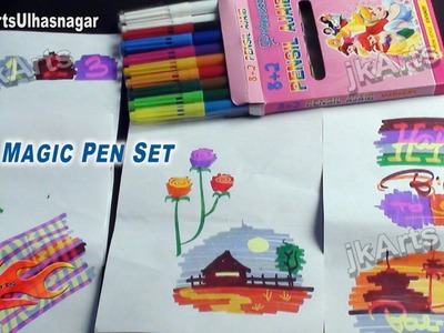 Demonstration of Magic Pen that change colors - JK Arts 534