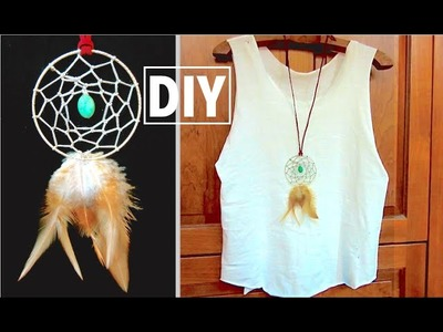 DIY Dreamcatcher Necklace | DIY Boho Jewelry