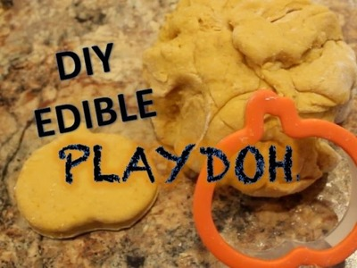 DIY EDIBLE PLAYDOUGH! {Pumpkin Recipe}