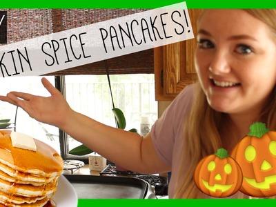DIY PUMPKIN SPICE PANCAKES!   #CookingWithLindz