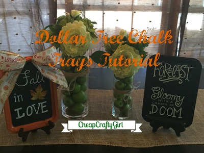 Dollar Tree Chalk Trays DIY: FALL and HALLOWEEN