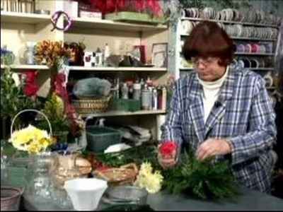 How to Make a Table Flower Arrangement : Adding Flowers to a Table Floral Arrangement
