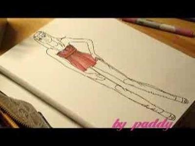 I'm drawing a fashion sketch