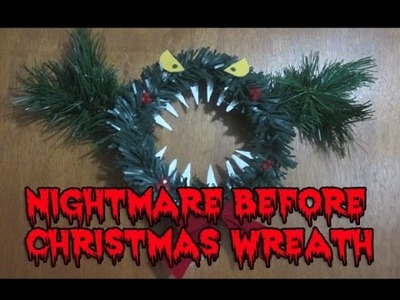 Nightmare Before Christmas Wreath DIY