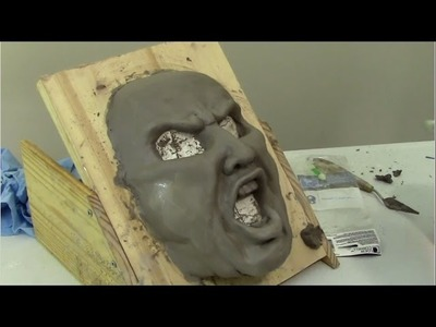 Paper Mache Mask and WED Clay Tips