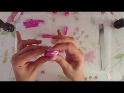Pink flowre cane - Tutorial ( Millefiori cane) .wmv