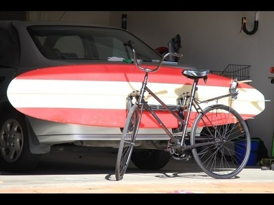 PROJECT: - 'Malibu Ride'  - DIY Surfboard Bike Rack