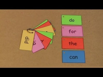 Sight Words Ring Book