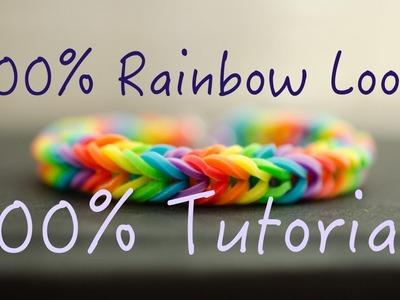 100% Rainbow Loom - 100% Tutorials - Easy tuto français facile