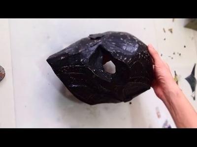 #87: Deathstroke Mask DIY - Part 2: Papermache & Hidden Left Eye