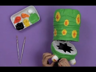 Art Attack - How To Make Garbage Eater Using A Bottle!! - Disney India (Official)