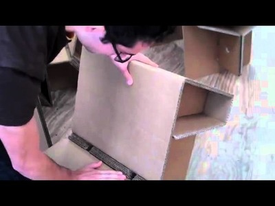 Chairigami fun, eco-friendly, cardboard furniture