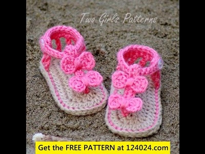 Crochet baby sandals pattern
