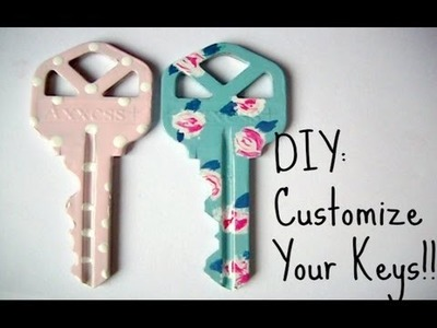 DIY: CUSTOMIZE YOUR KEYS WITH NAIL POLISH!