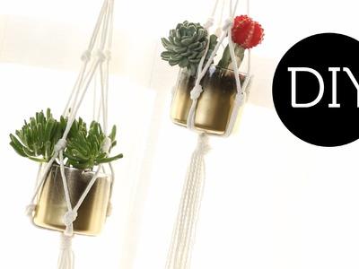 DIY: Hanging Macrame Planter ∞ Trash to Fab w. AnneorShine