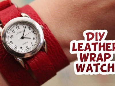 DIY Leather Wrap Watch {EASY} - Whitney Sews