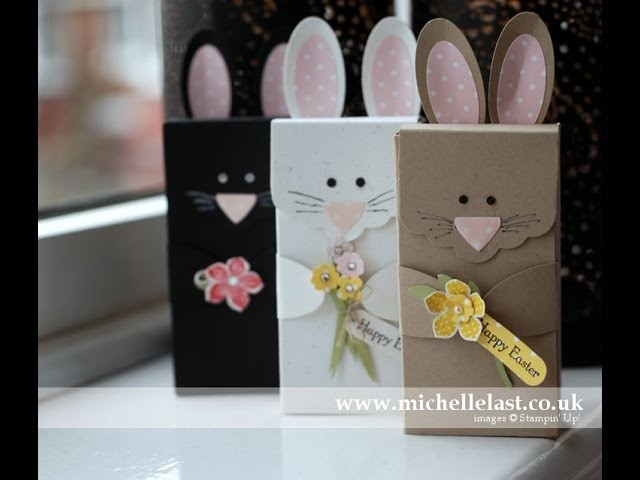 Easter Bunny Boxes using Stampin Up Supplies by Michelle Last