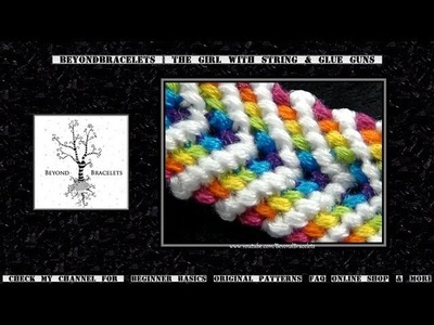 ► Friendship Bracelet Tutorial - Intermediate - Rainbow Chevron
