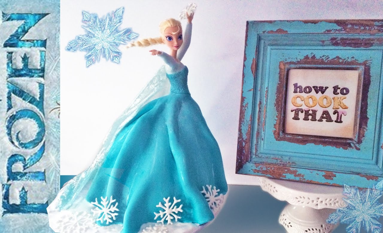 FROZEN ELSA PRINCESS CAKE How To Cook That Elsa Doll Cake Ann Reardon