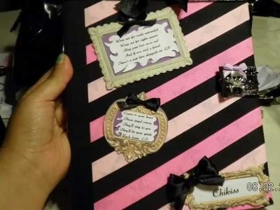 Grav3yardGirl Back to School Contest Entry.DIY Notebook Decoration