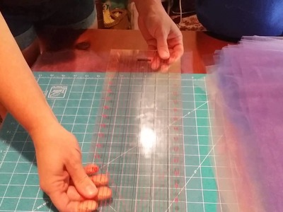 How to cut tulle from a bolt.