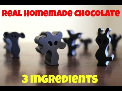How to Make Chocolate - Easy 3 Ingredient DIY Recipe