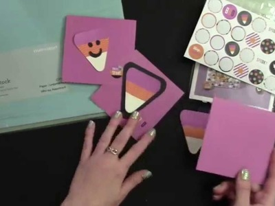 Last Minute DIY Candy Corn and Easy Card - TNT Eps 012: AboveRubiesStudio